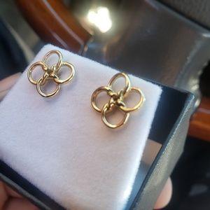 18kt Gold  Tiffany&Co Elsa Peretti Quad Earrings